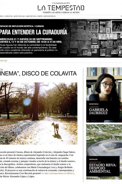 La Tempestad Cinema 1